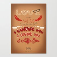 annie hall Canvas Prints featuring Annie Hall Fanart by Nat Rozendo