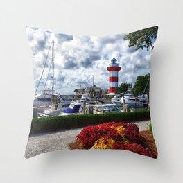 Hilton Head Lighthouse Throw Pillow