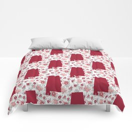 Alabama state silhouette university of alabama crimson tide floral college football gifts Comforters