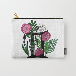 Gemini - coloured floral horoscope Carry-All Pouch