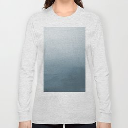 Behr Blueprint Blue S470-5 Abstract Watercolor Ombre Blend - Gradient Long Sleeve T-shirt