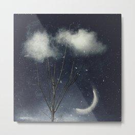 Tree In Clouds Metal Print