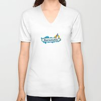 cape cod V-neck T-shirts featuring Barnstable Cape Cod by America Roadside