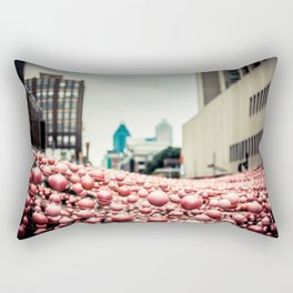 Pink In The Village Rectangular Pillow