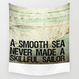 A Smooth Sea Wall Tapestry