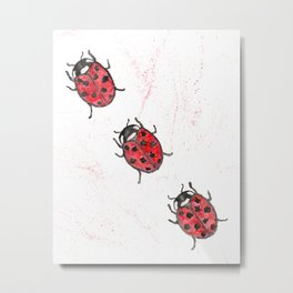 Lady Bugs Metal Print
