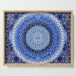 Cobalt Tapestry Mandala Serving Tray