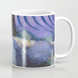 Lavender Field with Apple Tree Coffee Mug