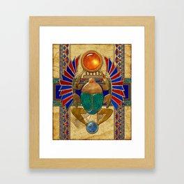 Sarcophagus 3d Egyptian Folk Art Framed Art Print