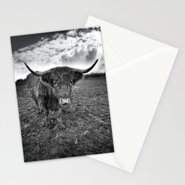 Rugged Highland Cattle Stationery Cards