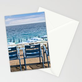 English promenade, Nice, French Riviera, France Stationery Cards