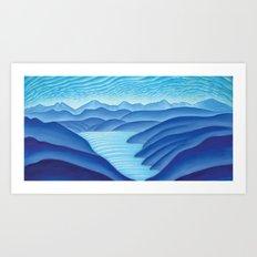 West Arm of Kootenay Lake Art Print