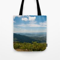 skyline Tote Bags featuring Skyline  by Ashley Hirst Photography