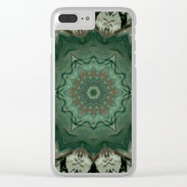 The Green Unsharp Mandala 3 Clear iPhone Case