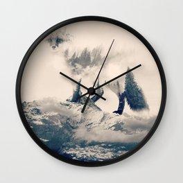 Fox Mountain Walker Wall Clock