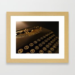 Remington retro vintage typewriter Framed Art Print