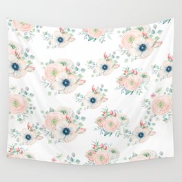 Dog Rose Pattern 2 Wall Tapestry