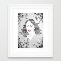 regina mills Framed Art Prints featuring Regina by Ganooosh