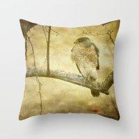 hunter Throw Pillows featuring Hunter by Curt Saunier