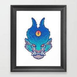 Blue Foo Framed Art Print