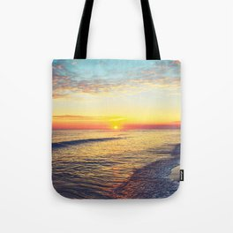 Summer Sunset Ocean Beach - Nature Photography Tote Bag