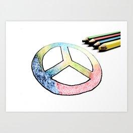 Lápices de la paz Art Print