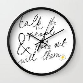 Talk to People Wall Clock