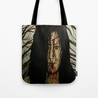 evil dead Tote Bags featuring Evil Dead by Lydia Dick