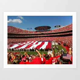 10th Anniversary of 9/11 at Arrowhead Stadium Art Print