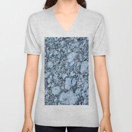 Blue textured granite rock Unisex V-Neck