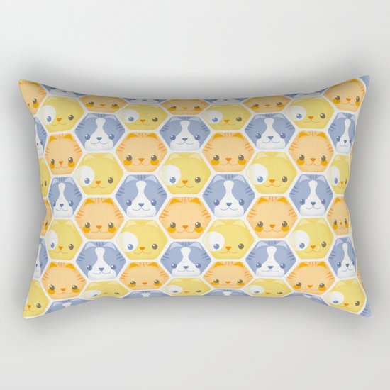 Hexy Cats Rectangular Pillow