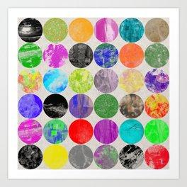 36 Textures - Multi Coloured, Multi Patterned, Multi textured Canvas Painting Art Print