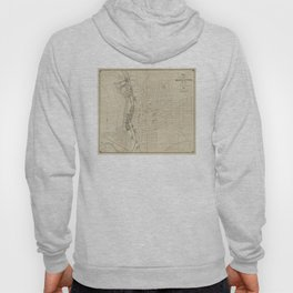 Vintage Map of Manchester NH (1872) Hoody