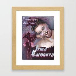 Irina Baronova Autogragh 1944 Framed Art Print