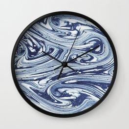 BLUE WATERCOLOR MIX Wall Clock