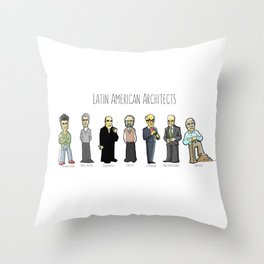 Latin American architects Throw Pillow