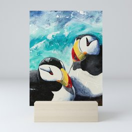 Puffins - Always together - by LiliFlore Mini Art Print