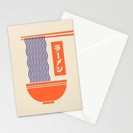Ramen Japanese Food Noodle Bowl Chopsticks - Cream Stationery Cards