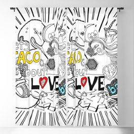 let's TACO bout LOVE baby Blackout Curtain