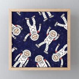 Astro Sloth Framed Mini Art Print
