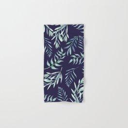 Floating Leaves Blue 2 #society6 #buyart Hand & Bath Towel