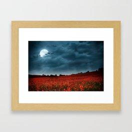 Under a Summertime Moon Framed Art Print