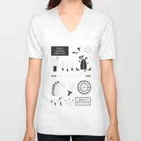 ouat V-neck T-shirts featuring OUAT - A Knight by Redel Bautista