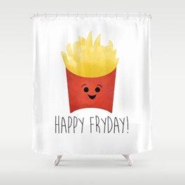 Happy Fryday! Shower Curtain