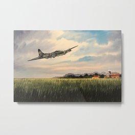B-17 Flying Fortress Aircraft Metal Print