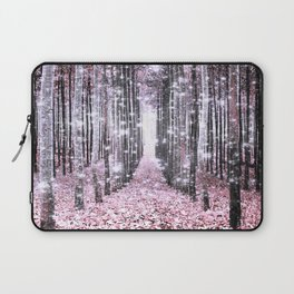 Magical Forest Pink Gray Elegance Laptop Sleeve