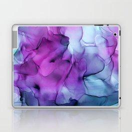 Abstract Mermaid Magenta Indigo Blue Ink Painting Laptop & iPad Skin