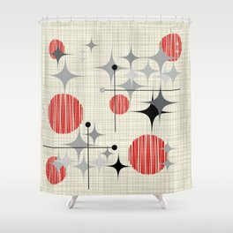 Starbursts and Globes 2 Shower Curtain