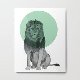 sitting lion Metal Print