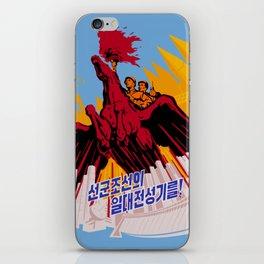 North Korea Propaganda. Construction iPhone Skin
